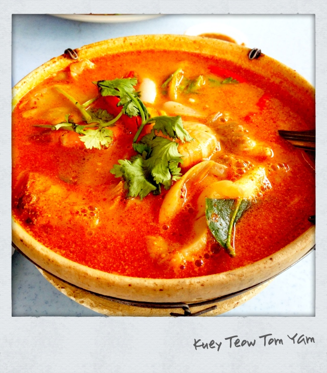 Delicious Thai noodle Tom Yum soup downstairs our office. By far one of the best dishes I've tried!
